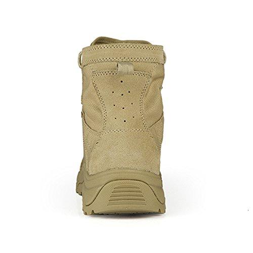 Botas de senderismo Free Soldier, para hombre, ligeras, transpirables, con cordones, botas tácticas arena