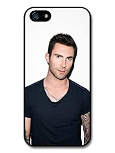 Adam Levine Maroon 5 Singer Portrait with Black T Shirt Case For Htc One M9 Cover