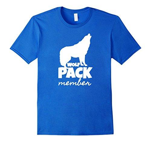 Mens Lifetime Wolf Pack Member T shirt Wildlife Howling Tee Gift Medium Royal Blue -