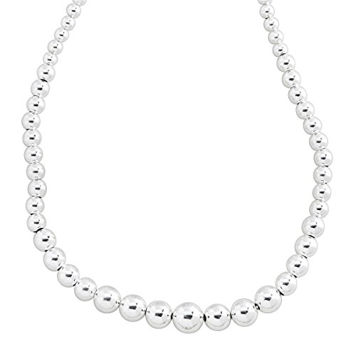(Silpada 'Blissful Baubles' Graduated Bead Necklace in Sterling Silver)