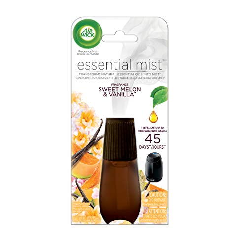Air Wick Essential Mist, Essential Oil Diffuser Refill, Sweet Melon & Vanilla, 1ct, Air Freshener