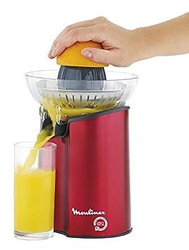 Moulinex PC600G - Exprimidor de cítricos, 100 W, color rojo