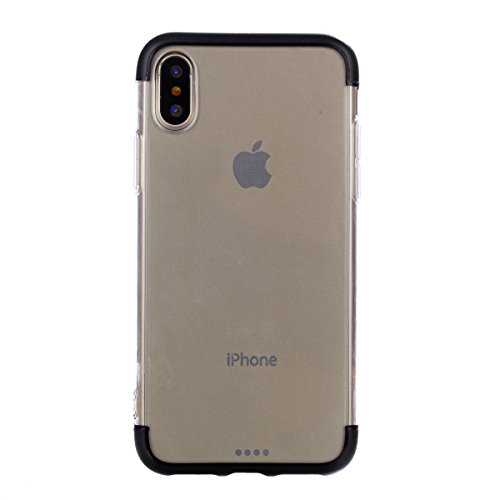 CaseforYou Hülle iphone X Schutz Gehäuse Hülse Premium Shatterproof Anti-Scratch Protective Shell Anti Drop Back Case Schutzhülle für iphone X Handy (Black)