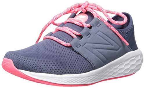New Balance Girls' Cruz V2 Fresh Foam Running Shoe, Vintage Indigo/Guava, 11 W US Little Kid ()