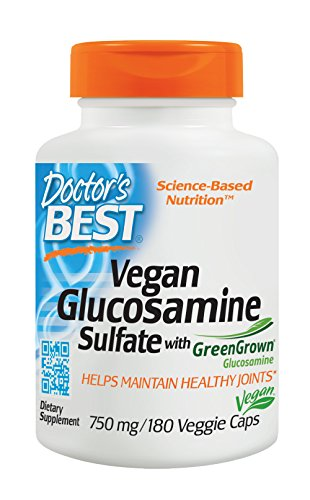 - Doctor's Best Vegan Glucosamine SulFate, Joint Support, Non-GMO, Vegan, Gluten Free, Soy Free, 750 mg 180 Veggie Caps