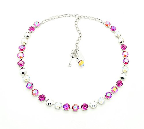 VANITY 8mm Crystal Chaton Necklace Made With Swarovski Elements *Pick Your Finish *Karnas Design Studio