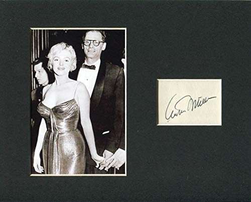 Arthur Miller Author Playwright Signed Autograph Photo Display W/Marilyn Monroe from HollywoodMemorabilia
