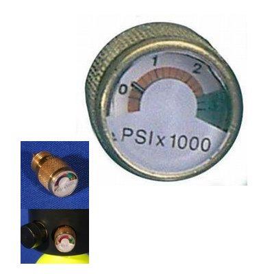 Spare-Air Screw In Dial Pressure Gauge (Spare Air Diving)