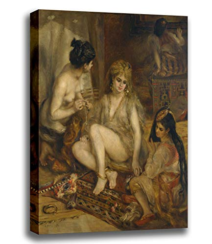 Parisiennes In Algerian Costumes Or Harem - Canvas Print Wall Art - Parisiennes