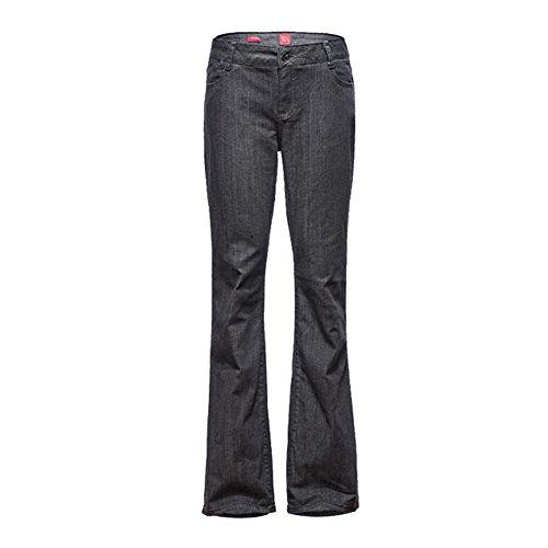 Mena Femmes Casual Loose Pantalons Longs, Grand Micro-Bell-Bottom Glands Jean vas M-5XL Gris