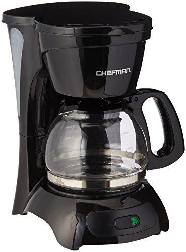 Chefman RJ14-4-M 4 Cup Switch Coffee Maker, Black