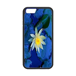 Custom Case Water lilies flower For iPhone 6 Plus 5.5 Inch Q3V743008