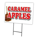 CARAMEL APPLES 12'x16' Yard Sign & Stake outdoor plastic coroplast window