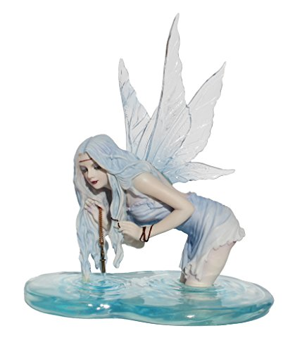 Fishing for Riddles Fantasy Art Fairy Statue Figurine by Selina Fenech ()