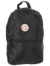 Air Canada Lightweight Fold Away Travel Carry-On Backpack Black