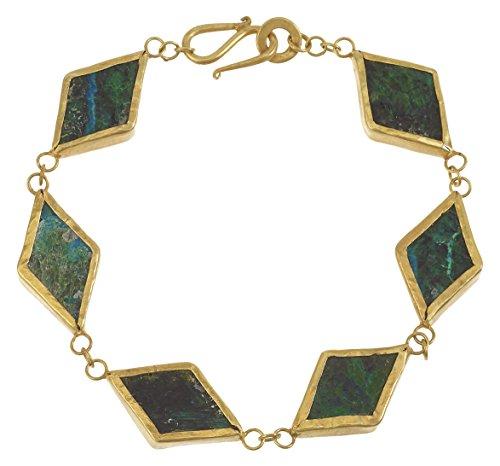 Pippa Small Bracelet Plaqué Or Triangle Autre Vert Femme