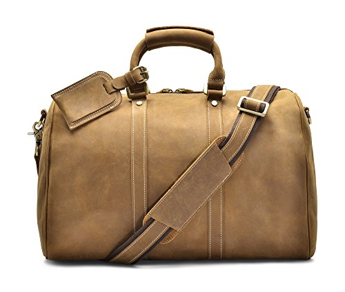 Hølssen Duffel Weekender Overnight Travel Genuine Leather Bag