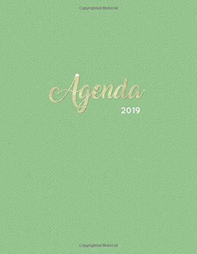 Agenda 2019: Semanal Diario Organizador Calendario | Verde y ...
