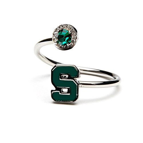 Michigan State Ring | Block S Green Spartan Ring | Michigan State Jewelry | Officially Licensed Michigan State University Jewelry | MSU Jewelry | MSU Spartans | Michigan State Gifts | Stainless Steel