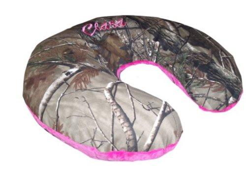 Nursing-Pillow-Cover-Replacement-Cover-Slip-Cover-Camo-Fuchsia-Minky