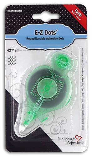Repositionable Dot Runner - 3L Scrapbook Adhesives E-Z Dots Repositionable Refillable Runner Refill Cartridge, 43 Feet