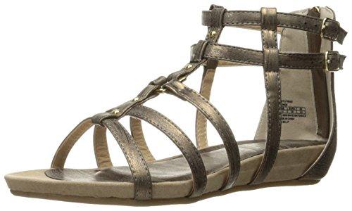 Kenneth Cole REACTION Girls' Lost Strike Gladiator Sandal, Bronze, 4 M US Big Kid (Girls Gladiator Sandals)