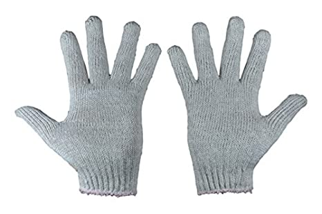 TheCoolio Cotton Knitted Hand Gloves Plain - Pack of 8