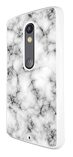 1229 - Novelty Fun Marble Texture Design For Motorola Moto G3 Fashion Trend CASE Back COVER Plastic&Thin Metal - White Texture Fashion