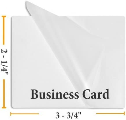 100 Business Card 10 Mil Laminating Pouches Laminator 2-1//4 x 3-3//4 Quality