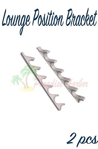 Paradise Harbor 2 Pieces White Adjustment Brackets for Chaise Lounge Adjustment Brackets Chaise Lunge Back Support Bracket 6 ()