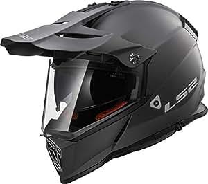 LS2Mx436Pioneer Casco para moto, color negro titanio mate, XXL