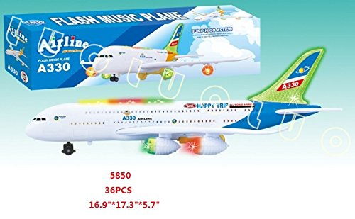 AIRLINE Toy Airplane with Music and Led (Remote Controlled Rc Airline Plane)