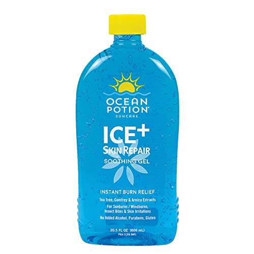 Ocean Potion Instant Burn Relief Ice-20.5 ounces (Banana Boat Soothing Aloe After Sun Gel)