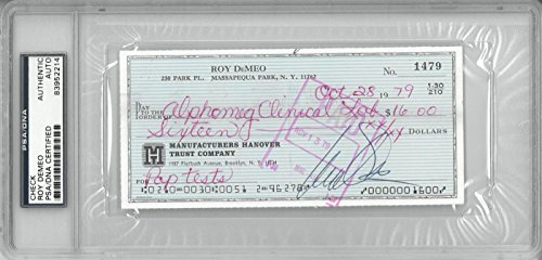 Roy DeMeo Mobster Signed Check PSA #83952214 With Albert DeMeo Signed Book