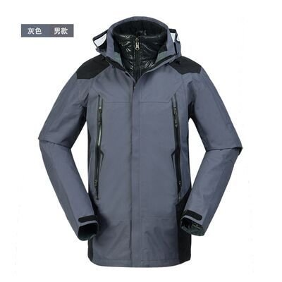 Men's DYF Outdoor Grey Thickened Big Down FYM JACKETS Ski Size Warm Coat Climb Jacket 7qOwpE