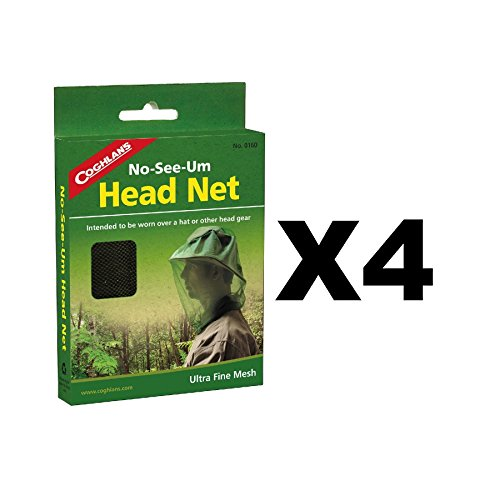 Coghlan's No-See-Um Head Net Ultra-Fine Mesh Mosquito Netting (4-Pack)