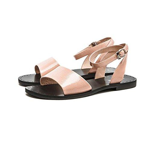 Cjc Mujeres Moda De Dedo Pink Las Zapatos Pie Del Abierto Sandalias dqxXPaWw4q