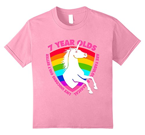 Kids Unicorn 7th Birthday Shirt 7 Year Old Girls Apparel Gifts 8 Pink