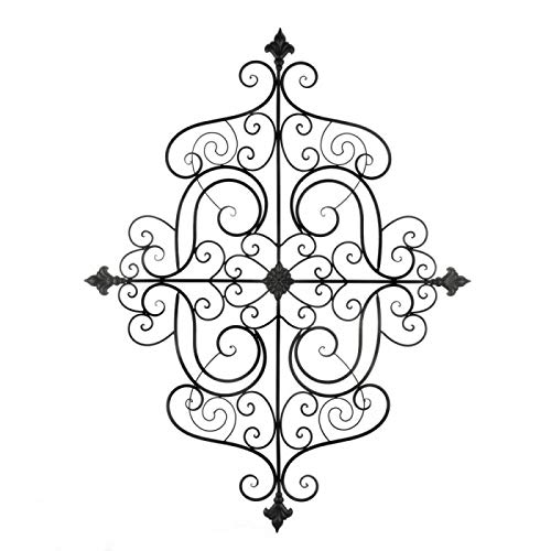 Tom & Co. Fleur-DE-LIS SCROLLWORK Wall Plaque