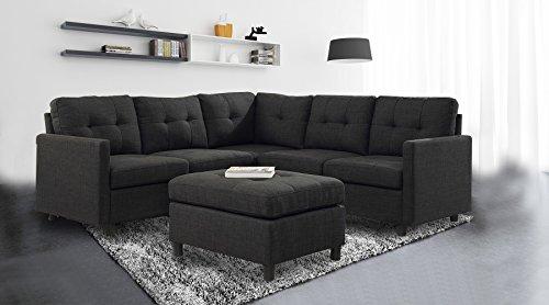 Amazon Com 6pcs Modern Modular Sectional Sofas With Ottoman