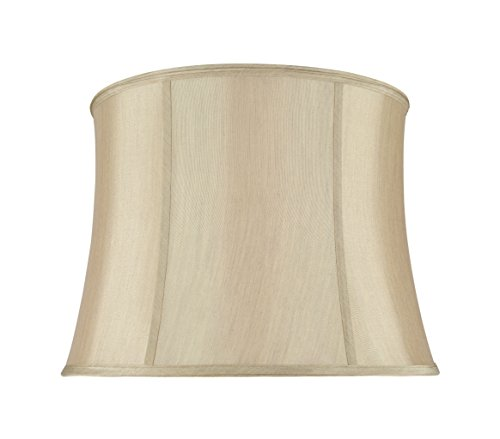 Aspen Creative 30021 Transitional Bell Shape Spider Construction Lamp Shade in Gold Taupe, 16