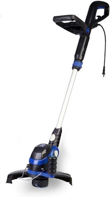 家庭用小型有線充電芝刈り機、600Wハイパワー、ワイヤー長40M、調節可能な高さ、耐久性-家庭用芝生、庭、剪定ツール用