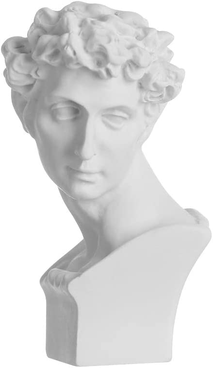 Dressplus Buste de style nordique en pl/âtre avec portrait de gypse en r/ésine Agrippa