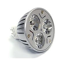 Leegoal White LED MR16 3x1 Watt LED Spot Light Bulb 20W for Track Light, Landscaping Halogen Replacement (Lot of 10)