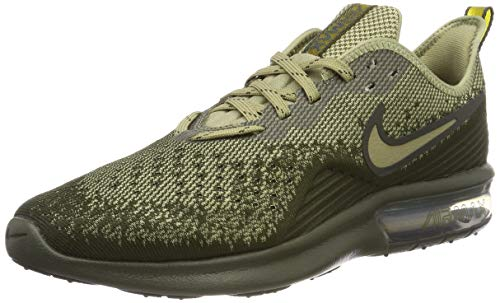 Nike Men's Air Max Sequent 4 Running Shoe Cargo Khaki/Neutral Olive/Peat Moss Size 13 M US - Mens Khaki Air