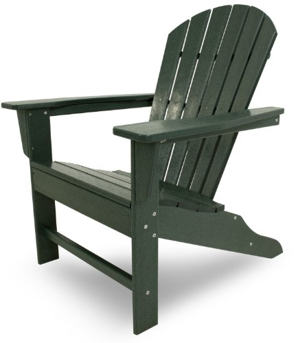 POLYWOOD SBA15GR South Beach Adirondack Chair, Green (The Best Adirondack Chair Review)