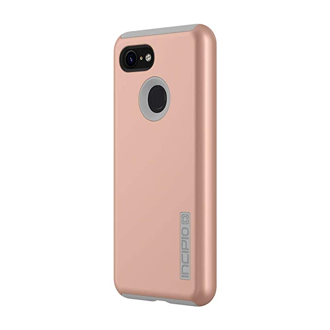 brand new 45af3 2c098 Incipio DualPro Google Pixel 3 Case with Shock-Absorbing Inner Core &  Protective Outer Shell for Google Pixel 3 - Iridescent Rose Gold/Gray