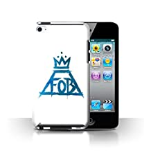Official Fall Out Boy Phone Case / Cover for Apple iPod Touch 4 / Blue/White Design / FOB Graffiti Volcano Collection