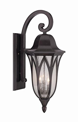 Acclaim 39822ORB Milano Collection 3-Light Outdoor Light Fixture Wall Lantern, Oil Rubbed Bronze by Acclaim