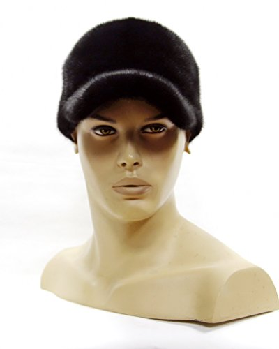 Men's baseball cap is made of natural mink fur handmade. by FurHats&Caps
